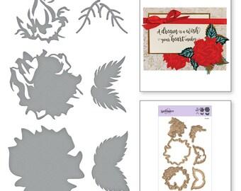 Spellbinders Shapeabilities Exclusives Layered Rose Layering Die Set Etched Dies S4-921