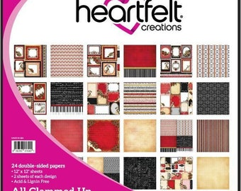 """Heartfelt Creations All Glammed Up Collection 12"""" x 12"""" HCDP1-260"""