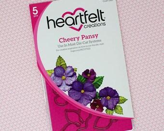 Heartfelt Creations Cheery Pansy Die HCD1-7222
