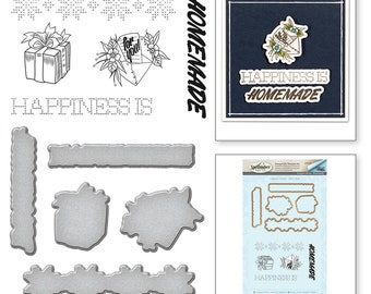 Spellbinders Happiness Handmade by Stephanie Low Stamp and Die Set SDS-076