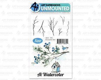 Art Impressions Unmounted Branches Set Stamp Set 5007 - WC