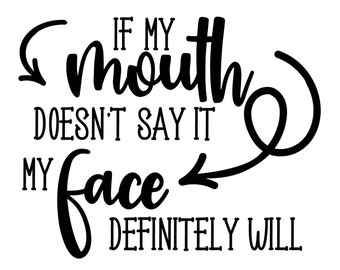 "Magnolia Design Co-If My Mouth Doesn't Say It-Reusable Adhesive Silkscreen Stencil 8.5"" x 11""-Chalk Art DIY"