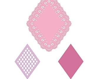 Heartfelt Creations Lacy Diamond Die HCD1-7228