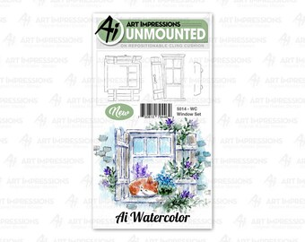 Art Impressions Unmounted Window Stamp Set 5014 - WC