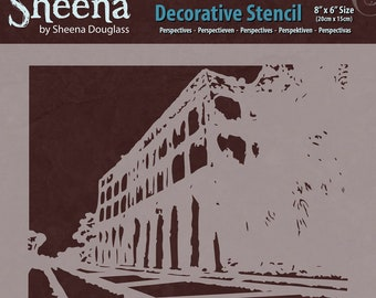 "Crafter's Companion Perspectives Sheena Douglass Decorative Stencil, 8"" by 6"""