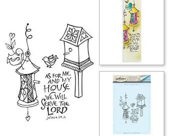 Spellbinder Birdhouse Stamps Bible Journaling by Joanne Fink SBS-139