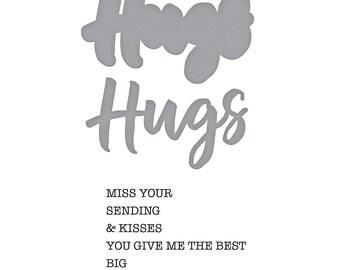 Spellbinders Hugs Expressions Stamp and Die Set - Exclusive SDS-154