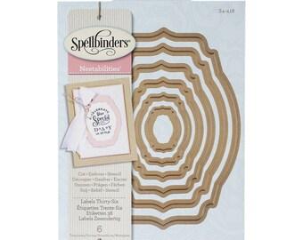 Spellbinders Nestabilities 'Labels Thirty-Six' Scrapbooking Template S4-418