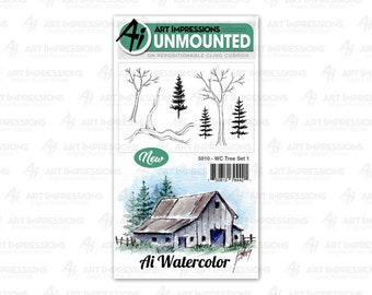 Art Impressions Unmounted Tree Stamp Set 5010 - WC