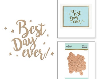 Spellbinders Best Day Ever Glimmer Hot Foil Plate GLP-007