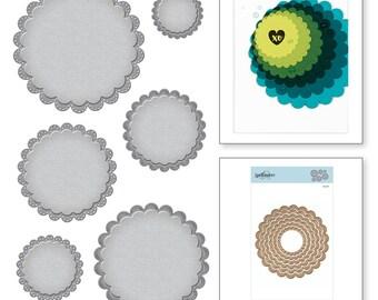 Spellbinders Nestabilities Fancy Scallop Edge Circles Etched Dies S4-911