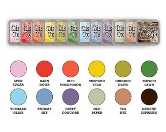 """Tim Holtz Ranger Distress Oxide Ink Pads 2018 Summer """"New Release"""" """"I Want it All Bundle #4"""" includes all 12 Colors"""