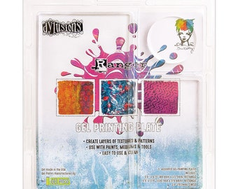 Ranger Ink GEL PLATE 3 Pack Assortment-Ranger, Dyan Reaveley, and Dina Wakley