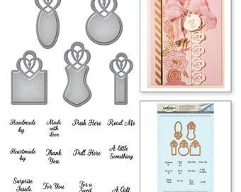 Spellbinders Amazing Paper Grace Vintage Elegance Becca Feeken Graceful Tiny Tag Stamp and Die Set SDS-053