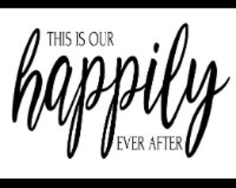 "Magnolia Design Co-Happily Ever After-Reusable Adhesive Silkscreen Stencil 5""X7""-Chalk Art DIY"