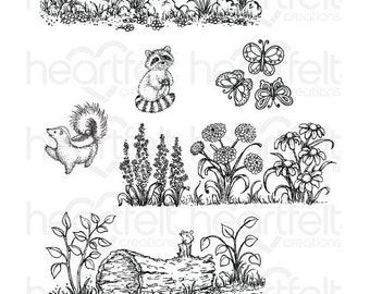 Heartfelt Creations Woodsy Wonderland Cling Stamp Set HCPC-3767