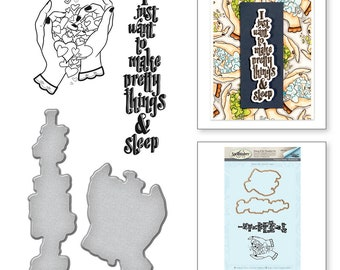 Spellbinders Pretty Handmade by Stephanie Low Stamp and Die Set SDS-070