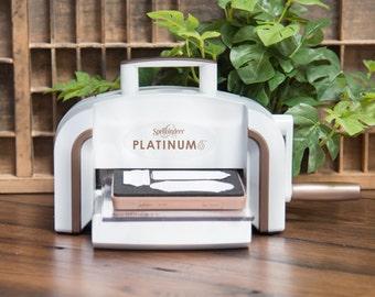 """Spellbinders Platinum 6 Die Cutting And Embossing Machine - 6"""" Platform PE-100"""