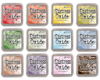 "Tim Holtz Ranger Distress Oxide Ink Pads 2018 Summer ""New Release"" ""I Want it All Bundle #4"" includes all 12 Colors ""PRE-ORDER"""