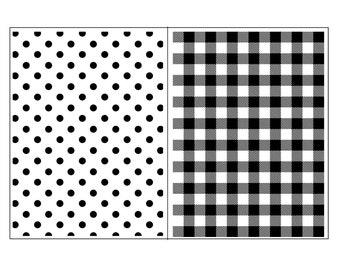 "Magnolia Design Co-Dots and Mini Plaid-Reusable Adhesive Silkscreen Stencil 12"" x 18""-Chalk Art DIY"