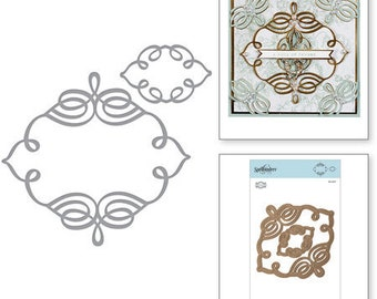 Spellbinders Shapeabilities Trefoil Crest Etched Dies By Becca Feeken S4-927