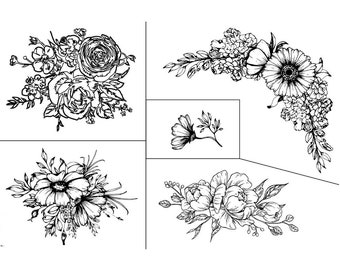 """Magnolia Design Co-Floral Fantasy-Reusable Adhesive Silkscreen Stencil 12"""" x 18""""-Chalk Art DIY"""