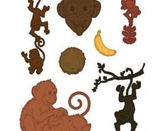 Heartfelt Creations Monkey Antics HCD1-7134