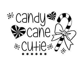 """Magnolia Design Co-Candy Cane Cutie-Reusable Adhesive Silkscreen Stencil 5""""X7""""-Chalk Art DIY"""