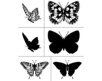 "Magnolia Design Co-Beautiful Butterflies-Reusable Adhesive Silkscreen Stencil 8.5"" x 11""-Chalk Art DIY"