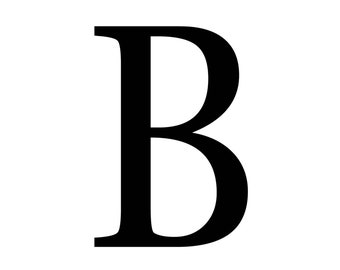 "Magnolia Design Co-""B"" Monogram Letter-Reusable Adhesive Silkscreen Stencil 5""X7""-Chalk Art DIY"