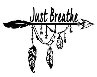 "Magnolia Design Co-Just Breathe-Reusable Adhesive Silkscreen Stencil 8.5"" X 11""-Chalk Art DIY"