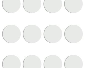 Magnolia Design Co-3 inch White Chalk Circles 12-PACK-Chalk Surface-Chalk Art DIY