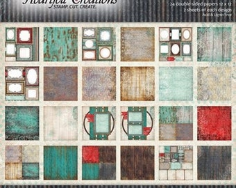 """Heartfelt Creations All Geared Up Paper Collection 12"""" x 12"""" HCDP1-248"""