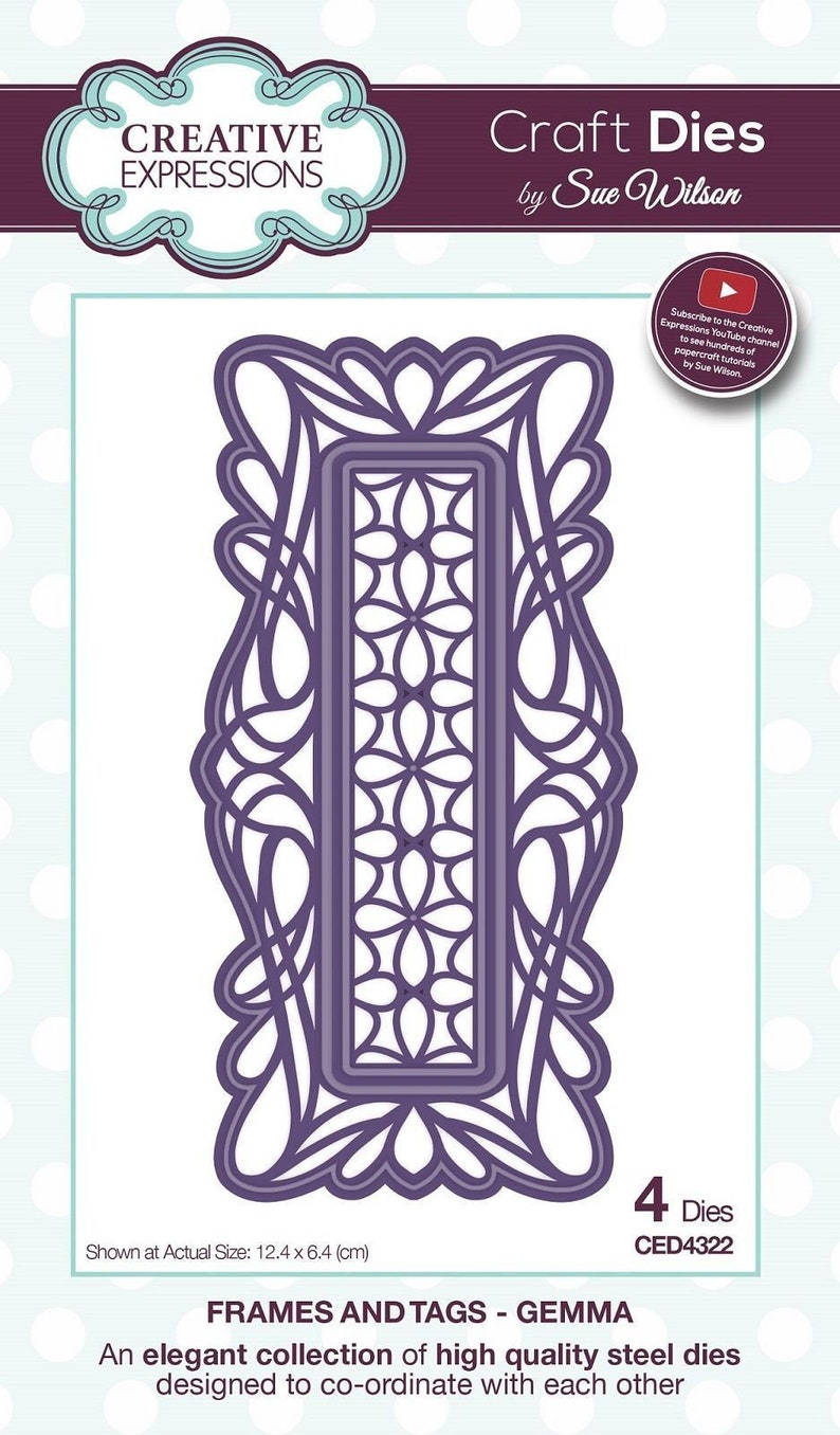 Creative Expressions Sue Wilson Frames and Tags Collection Gemma Die CED4322