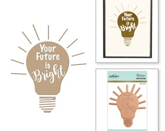 Spellbinders Your Future is Bright Glimmer Hot Foil Plate GLP-003