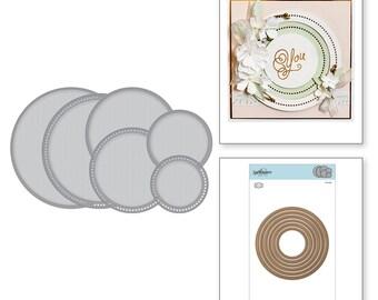 Spellbinders Nestabilities Hemstitch Circles Etched Dies Romancing the Swirl Becca Feeken S4-928
