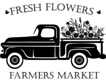 "Magnolia Design Co-Fresh Flowers-Reusable Adhesive Silkscreen Stencil 5""X7""-Chalk Art DIY"