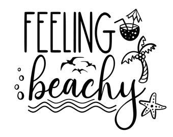 """Magnolia Design Co-Feeling Beachy-Reusable Adhesive Silkscreen Stencil 8.5"""" x 11""""-Chalk Art DIY"""