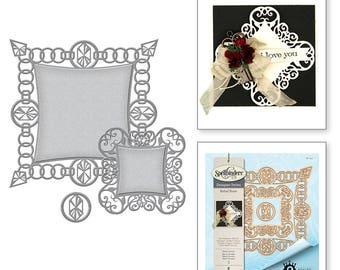 SpellbindersCard Creator Rebel Jewels Etched Dies Rebel Rose by Stacey Caron S6-123