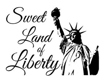 "Magnolia Design Co-Lady Liberty-Reusable Adhesive Silkscreen Stencil 8.5"" X 11""-Chalk Art DIY"