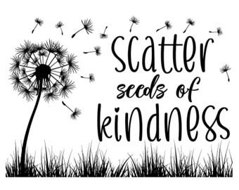 "Magnolia Design Co-Scatter Seeds of Kindness-Reusable Adhesive Silkscreen Stencil 5""X7""-Chalk Art DIY"