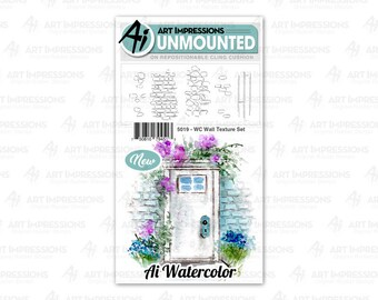 Art Impressions Unmounted Wall Texture Stamp Set 5019 - WC