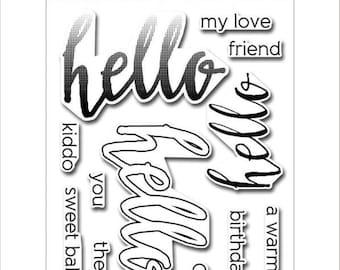 Altenew Halftone Hello Stamp Set ALT1091