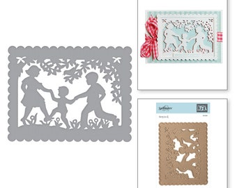 Spellbinders Card Creator Little Loves A2 Card Front Sharyn Sowell S5-349