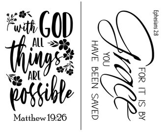 """Magnolia Design Co-All Things Are Possible-Reusable Adhesive Silkscreen Stencil 8.5"""" x 11""""-Chalk Art DIY"""