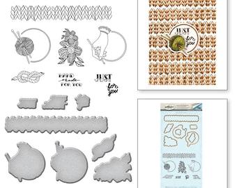 Spellbinders Yarn Handmade by Stephanie Low Stamp and Die Set SDS-072