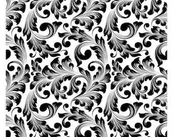 "Magnolia Design Co-Victorian Pattern-Reusable Adhesive Silkscreen Stencil 15"" x 15""-Chalk Art DIY"