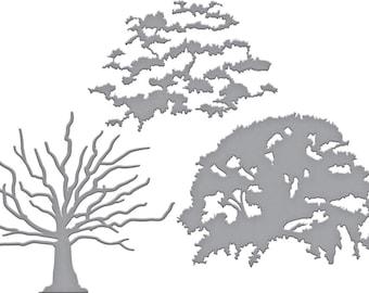 Spellbinders Shapeabilities Exclusives Layered Oak Tree Layering Etched Dies S6-149