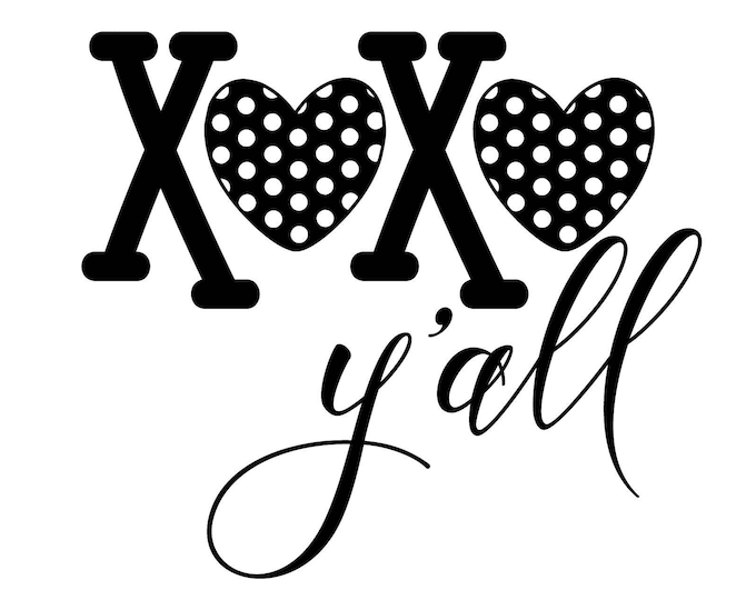 "Featured listing image: Magnolia Design Co-XOXO Yall-Reusable Adhesive Silkscreen Stencil 8.5"" X 11""-Chalk Art DIY"