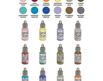 "Tim Holtz Ranger Distress Oxide Reinkers 2018 Release ""I Want it All Bundle #3"" includes all 12 Colors ""BRAND NEW"""